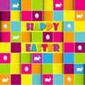 Happy easter cards illustration retro vintage with egg and fonts vector Royalty Free Stock Photos