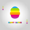 Happy easter cards illustration vintage with easte egg and fonts vector Royalty Free Stock Photography