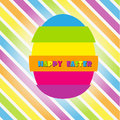 Happy easter cards illustration vintage with easte egg and fonts vector Stock Photos