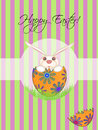 Happy Easter Chick Hatching Egg Royalty Free Stock Photo