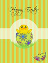 Happy Easter Chick Hatching Egg Royalty Free Stock Image