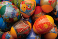 Happy easter colorful painted eggs decorated with colored foil with inscription Royalty Free Stock Photography