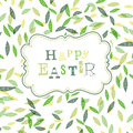Happy easter cute greeting card template vector eps Stock Photos