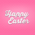 Happy easter d handwriting type on pattern background fancy lettering decorative logo modern fresh sample imaginative supplement Royalty Free Stock Photography
