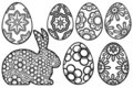 Happy Easter Day Bunny Floral Eggs Royalty Free Stock Photo