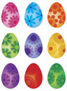 Happy Easter Day Floral Eggs Illustration Royalty Free Stock Photo