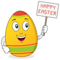 Happy Easter Egg Character Stock Images