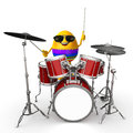 Happy easter egg with drum sticks d rendered illustration of Stock Photo