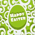 Happy Easter egg openwork appliqués banner Royalty Free Stock Photography