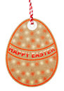 Happy Easter Egg Shaped Gift Tag With String Royalty Free Stock Photo