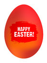 Happy easter egg on white background Royalty Free Stock Photo
