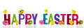 Happy easter with eggs and chicks Royalty Free Stock Photo
