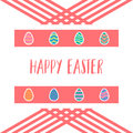 Happy easter eggs design icons set background
