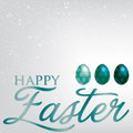 Happy easter elegant egg card in vector format Royalty Free Stock Photography