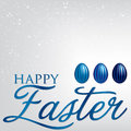 Happy easter elegant egg card in vector format Stock Photography