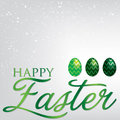 Happy easter elegant egg card in vector format Stock Photo