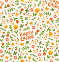 Happy easter flower pattern seamless Royalty Free Stock Photography