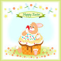 Happy Easter greeting card Royalty Free Stock Photo