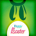 Happy easter greeting card ,  bunny eggs Stock Image
