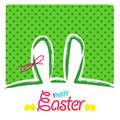Happy easter greeting card,  bunny eggs Stock Image