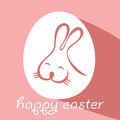 Happy easter greeting card with egg and rabbit Royalty Free Stock Images