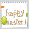 Happy easter greeting card funny cute chicks doodles Royalty Free Stock Photo