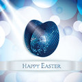 Happy easter greeting card vector illustraton Royalty Free Stock Photos