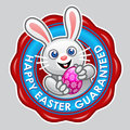 Happy Easter Guaranteed Seal Royalty Free Stock Photography