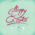 Happy easter hand lettering handmade calligraphy Stock Images