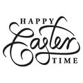 Happy easter hand lettering handmade calligraphy Stock Photos
