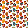 Happy easter happy holiday eggs pattern seamless background for your greeting card design cute decorated easter eggs Stock Photo