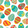 Happy easter happy holiday eggs pattern seamless background for your greeting card design cute decorated easter eggs Royalty Free Stock Image