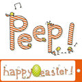 Happy easter letters funny little chicks Stock Image