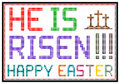 Happy easter message on vintage lcd screen isolated on white Royalty Free Stock Image