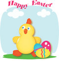 Happy easter a nice chick Royalty Free Stock Photo