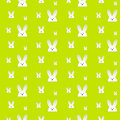 Happy easter rabbit bunny green seamless background vector Royalty Free Stock Photo