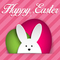 Happy Easter Rabbit Bunny on Pink Background Stock Photography