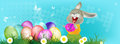 Happy easter rabbit and egg holiday Royalty Free Stock Photo