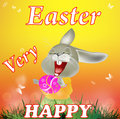 Happy easter rabbit and eggs holiday Royalty Free Stock Image