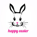 Happy easter rabbit isolated illustration Stock Photo