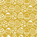 Happy easter repetition vector background. Seamless wallpaper with eggs