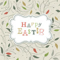 Happy easter retro cute greeting vector eps Royalty Free Stock Photo