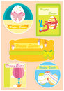 Happy Easter set of five cards
