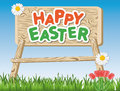Happy Easter sign on a meadow Stock Images