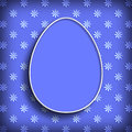 Happy easter simple shape of easter egg and flowers Royalty Free Stock Images