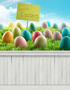 Happy Easter Spring Background...
