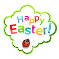 Happy easter sticker Royalty Free Stock Images