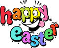 Happy easter text on white background Royalty Free Stock Photo