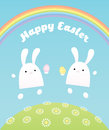 Happy easter two bunnies
