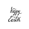 Happy Easter typographic background. Calligraphic inscription: Happy Easter.